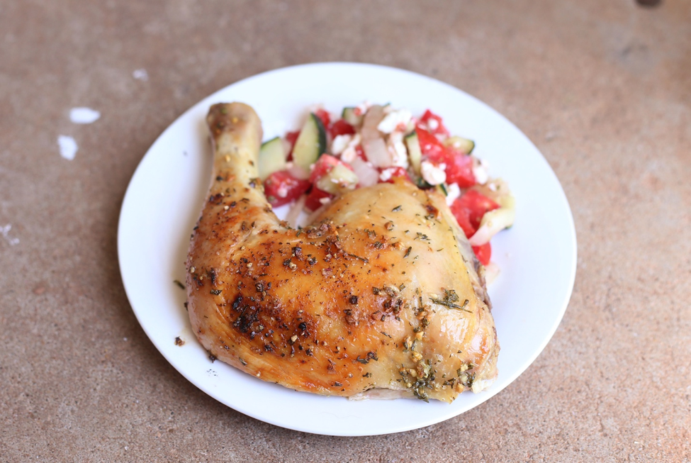Rosemary Garlic Spatchcock Chicken