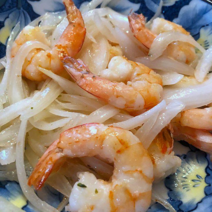 Shrimp and Onion Stir Fry