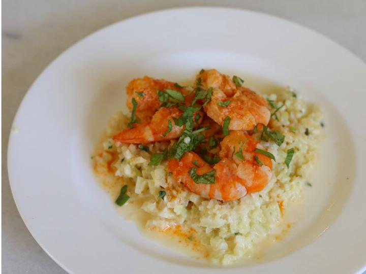 Keto Shrimp Risotto (Gluten Free)