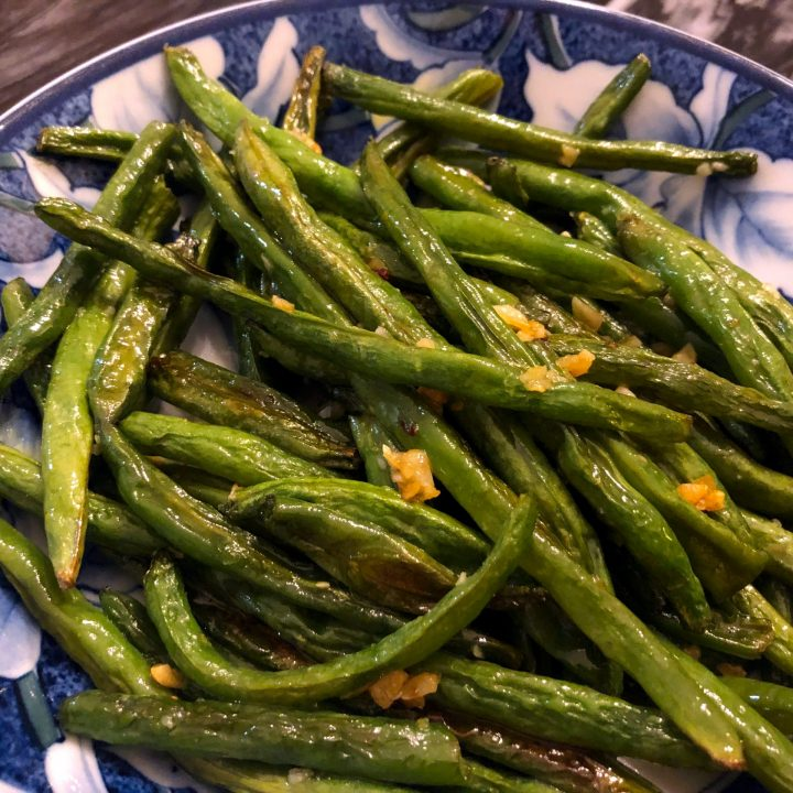 Oven Roasted Garlic Butter Green Beans