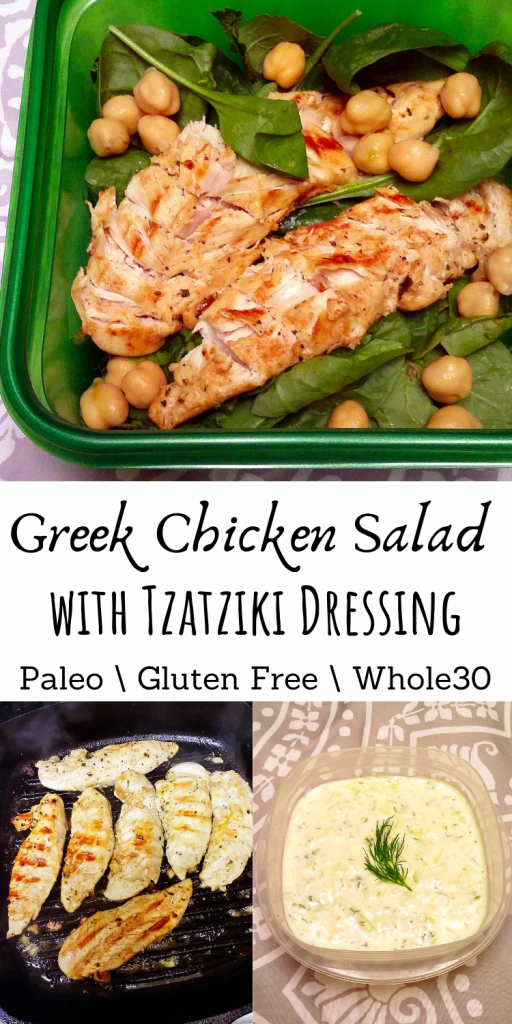 Greek Chicken Salad with Tzatziki Dressing