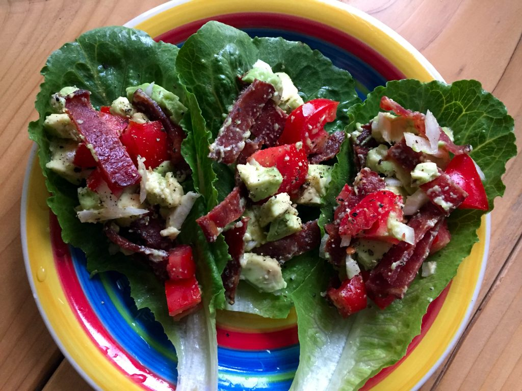 Paleo BLT Wrap with Avocado