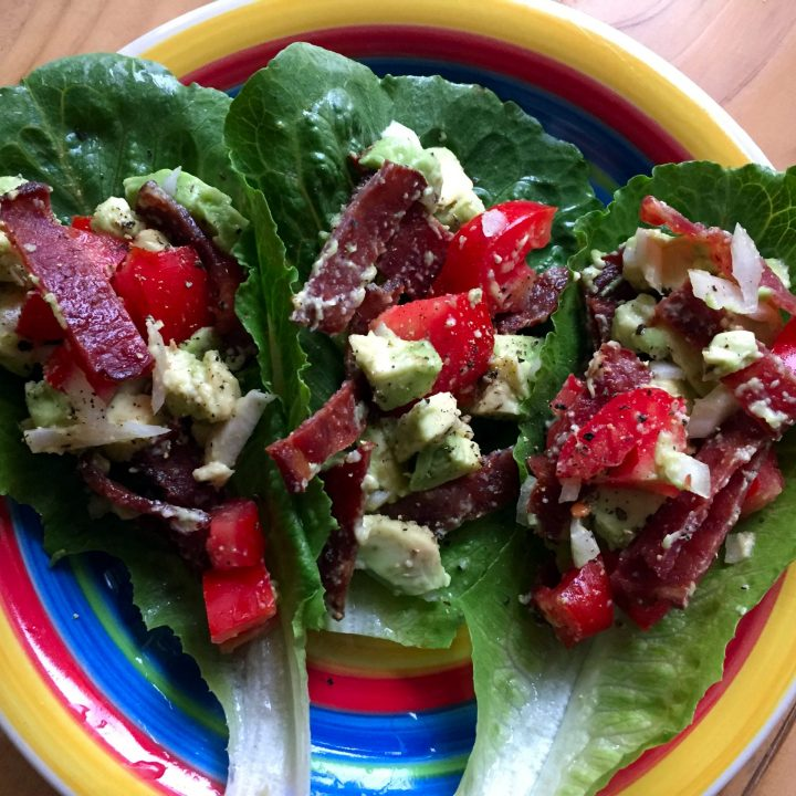 Super Easy Paleo BLT Wrap with Avocado