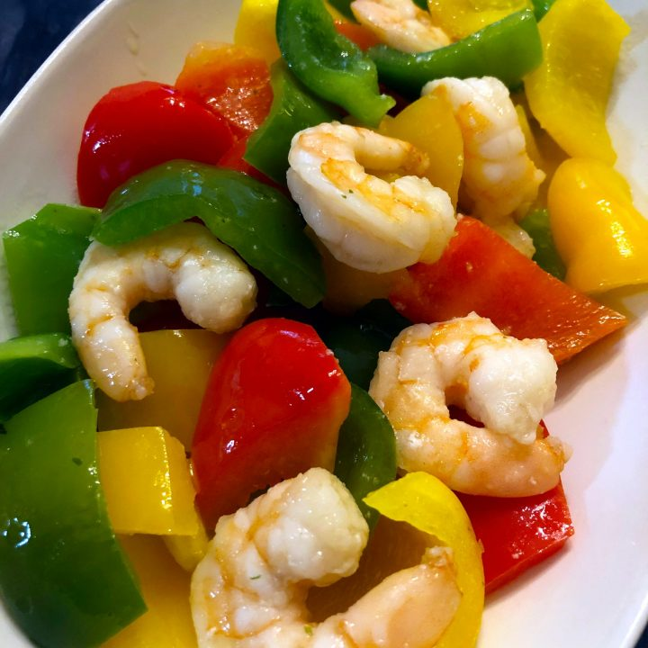 Shrimp Bell Peppers Stir Fry