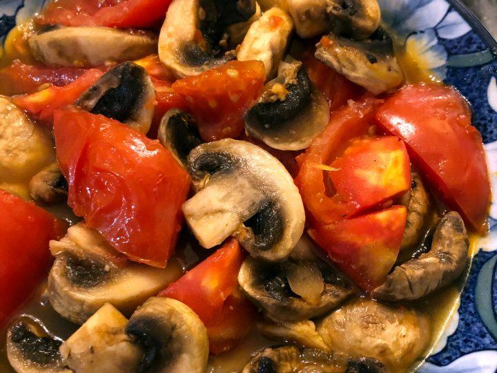 Mushroom and Tomato Stir Fry
