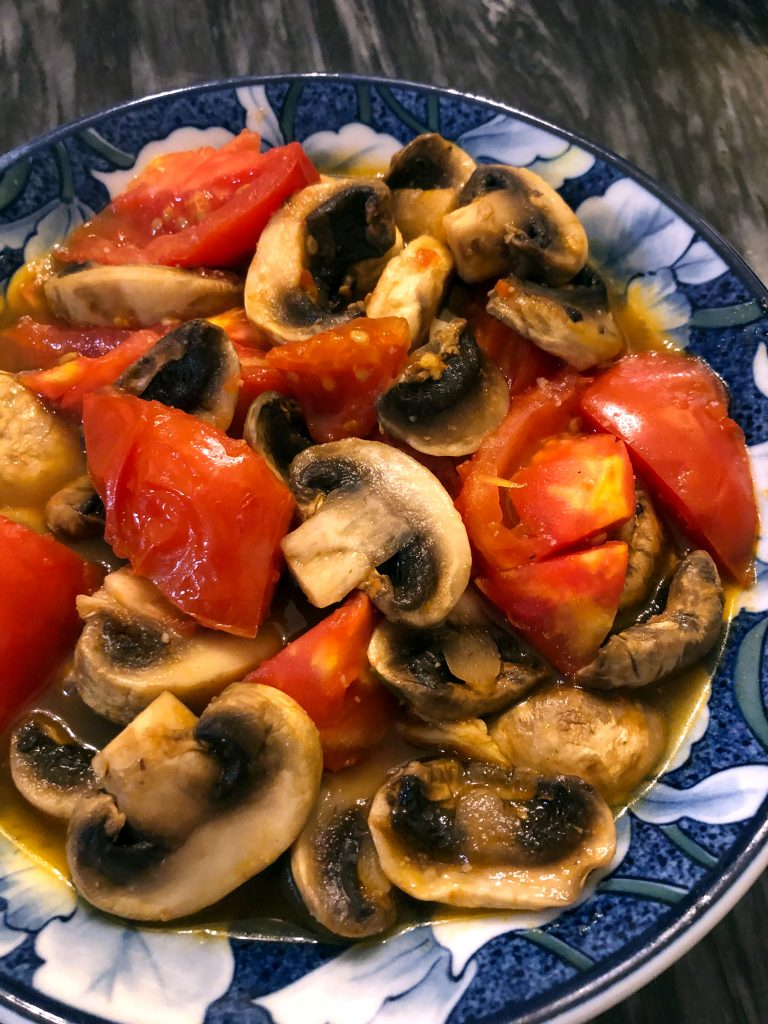 Mushrooms and Tomatoes Stir Fry