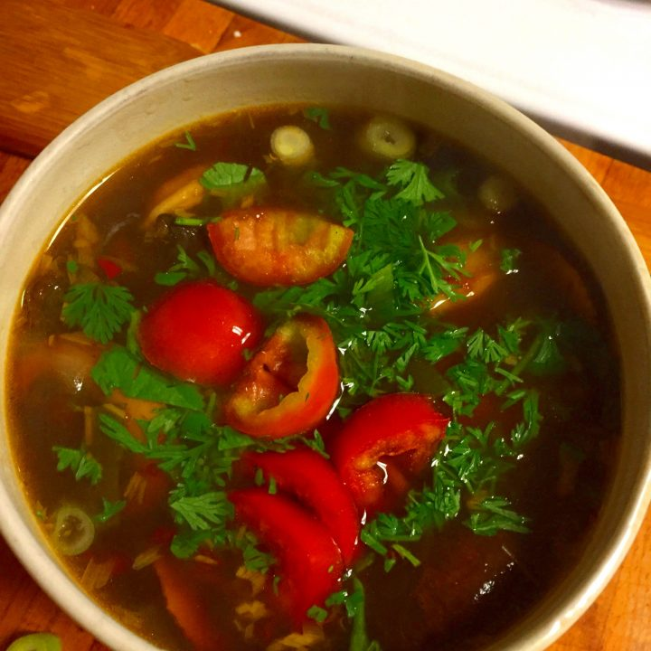 Tom Yum Soup with Shrimp (Thai Hot and Sour Soup)
