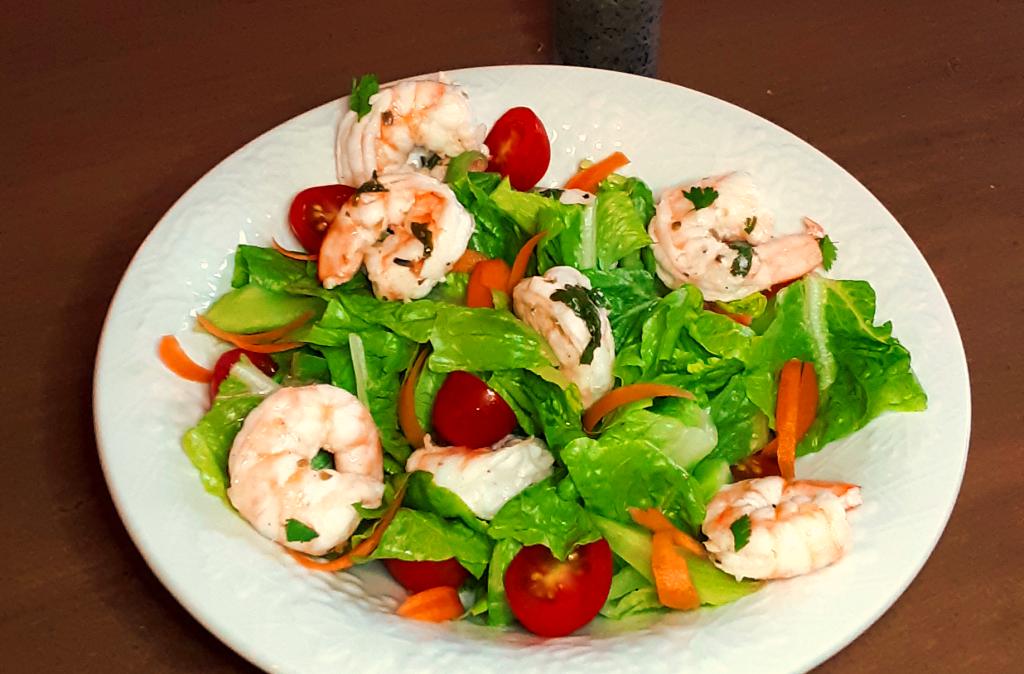 Shrimp Salad with Lemon Poppyseed Dressing (Paleo, Gluten Free)