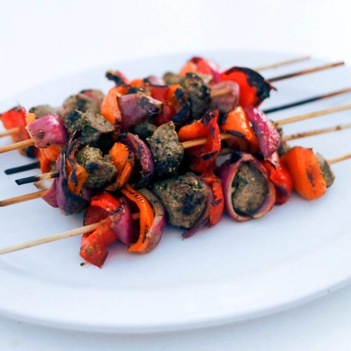 Lime and Basil Beef Kebabs