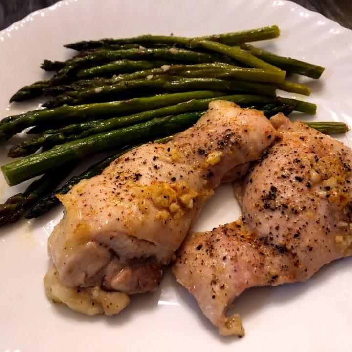 Sheet Pan Garlic Butter Chicken with Asparagus