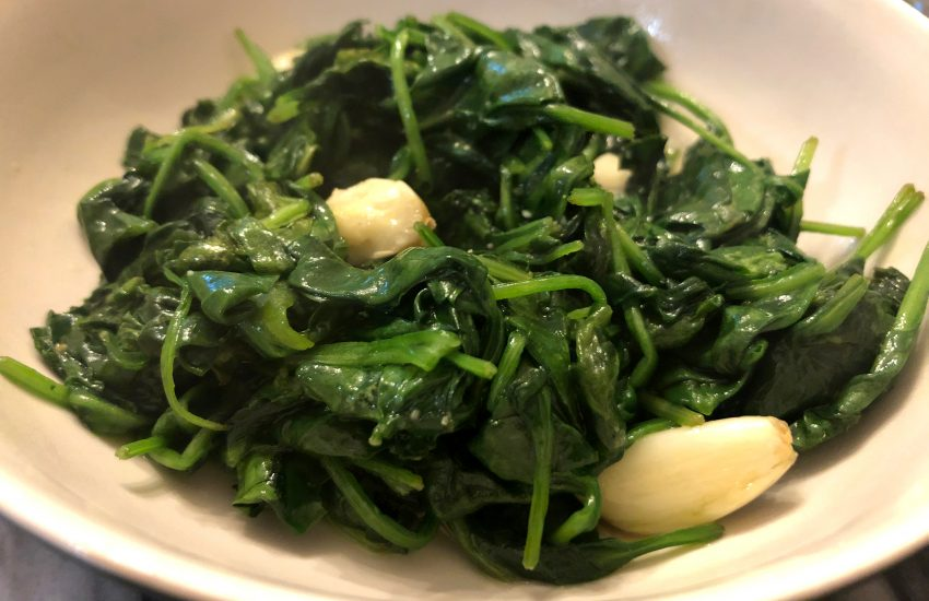Spinach Stir Fry with Garlic