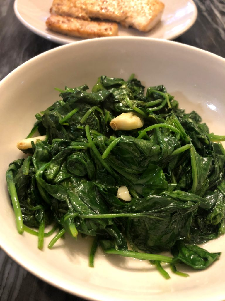 Spinach Stir Fry with Garlic