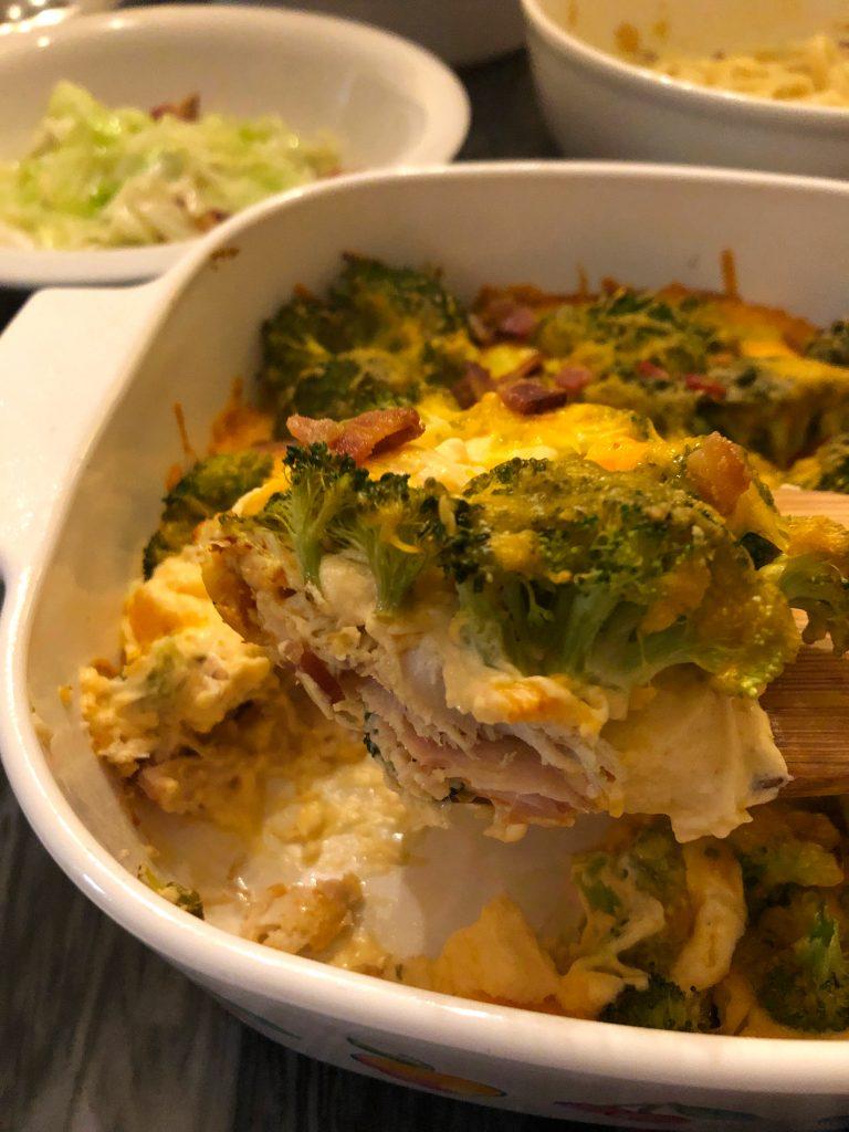 Keto Chicken Broccoli Cheese Casserole