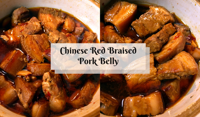 chinese red braised pork belly featured