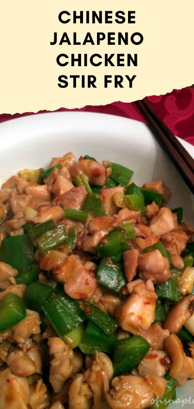 Chinese Jalapeño Chicken Stir Fry