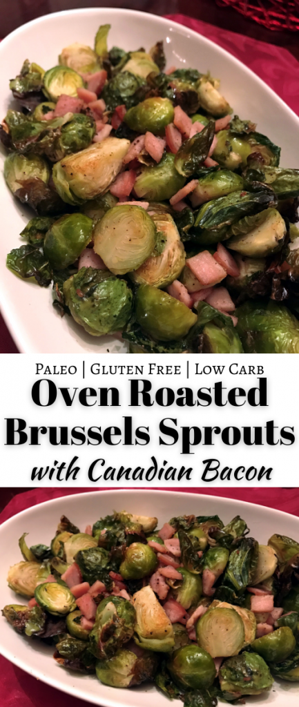Roasted Brussels Sprouts with Canadian Bacon