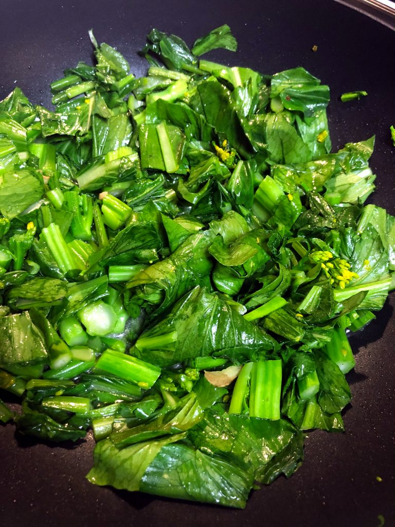 Yu Choy Stir Fry with Ginger