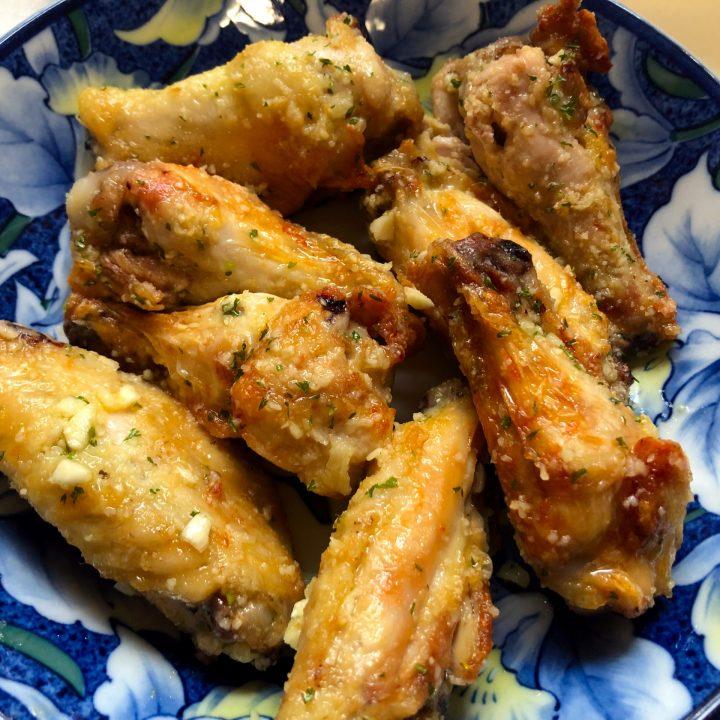Garlic Parmesan Wings in Air Fryer