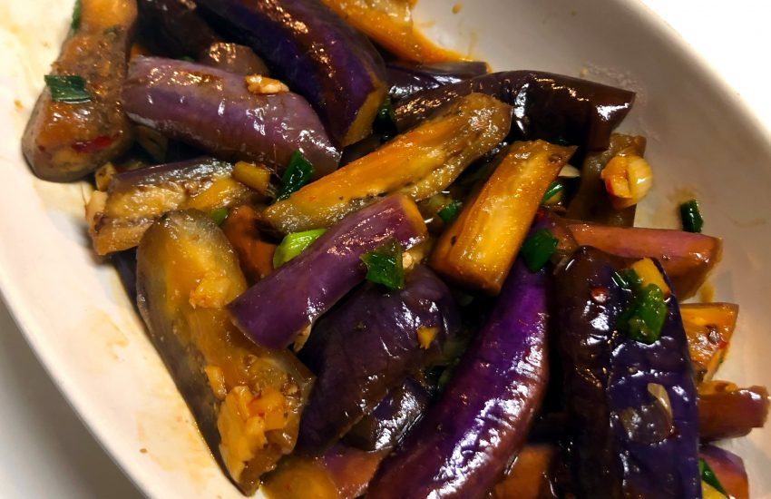 Chinese Eggplant In Garlic Sauce Oh Snap Let S Eat