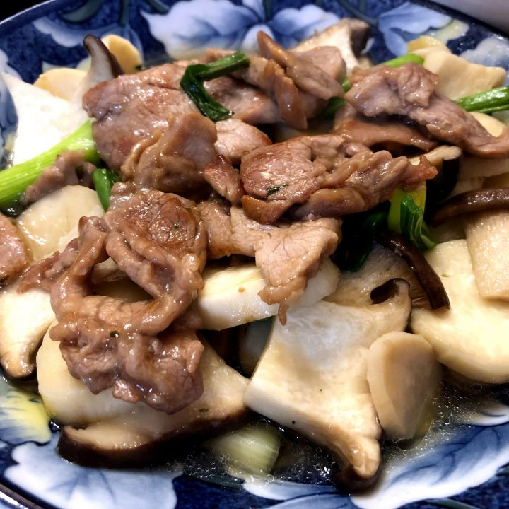King Oyster Mushroom with Pork Stir Fry
