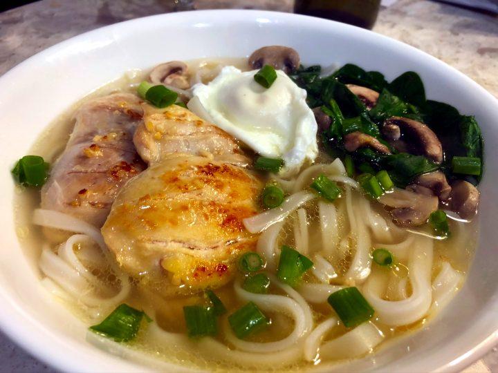 Asian Chicken Noodle Soup (gluten free)