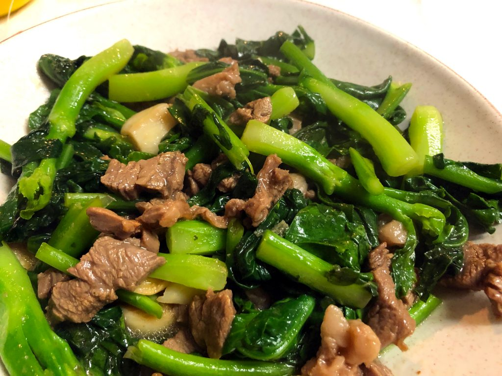 Beef Chinese Broccoli (Gai Lan) Stir Fry