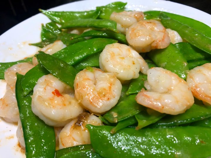 Shrimp Snow Peas Stir Fry