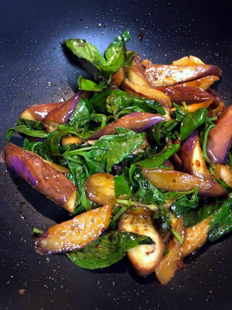 Thai Basil Eggplant Stir Fry