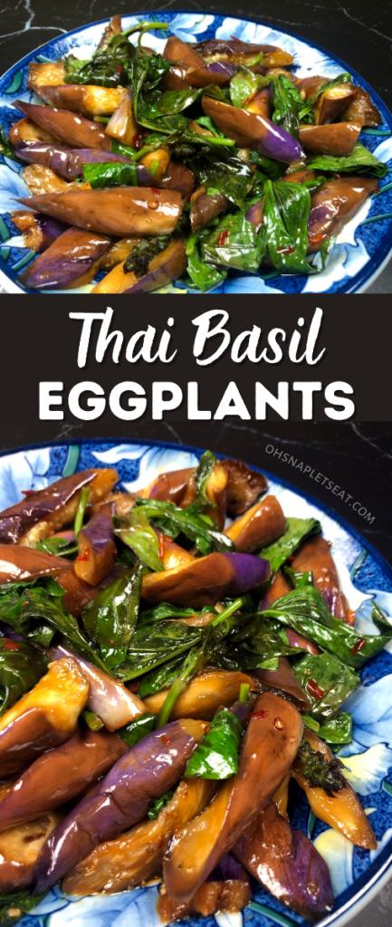 Thai Basil Eggplants stir fry